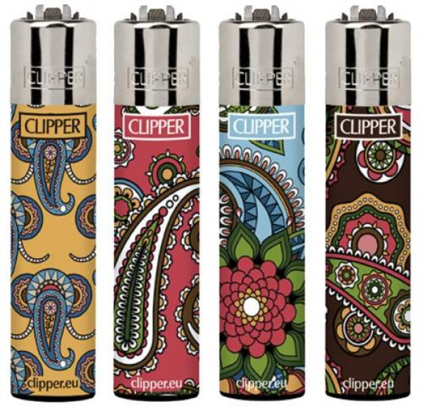 "Clipper Classic Original (CP11) Feuerzeug Serie ""Flower Mandalas"" Collection 4 Stück (4X)"