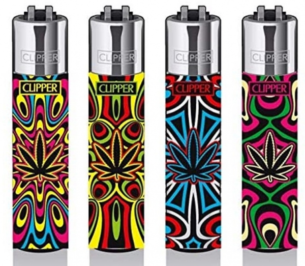 "Clipper Classic Original (CP11) Feuerzeug Serie ""Trance Leaf 3"" Collection 4 Stück (4X)"