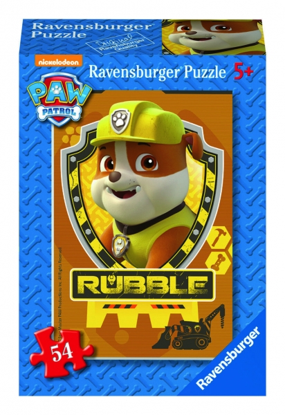 Ravensburger Mini Puzzle Paw Patrol Kinderpuzzle Rubble 54 Teile 094376